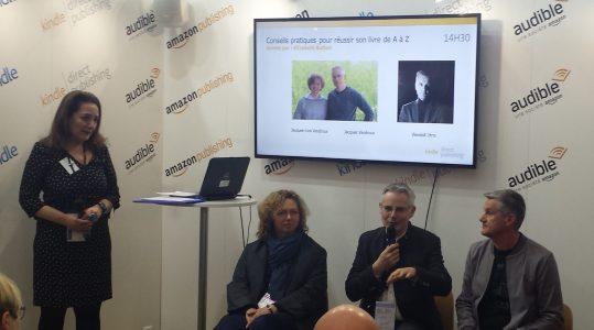 photo panel lancement amazon Livre paris