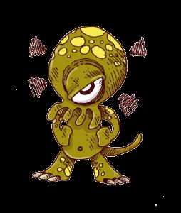 Un monstre avec des tentacules et un gros œil: L'esprit critique du lecteur