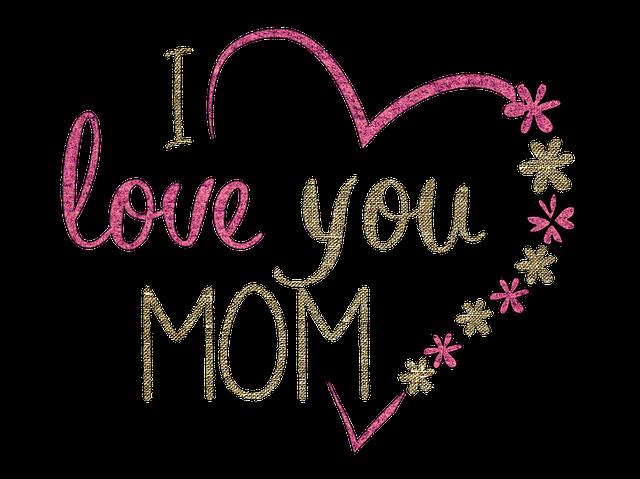 un cœur avec écrit I love you mom. Une technique éculée pour rendre un personnage attachant
