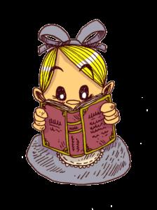 alice est plongée dans un livre découvert en séances de dédicaces. Elle est fan
