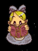 Alice lit un livre