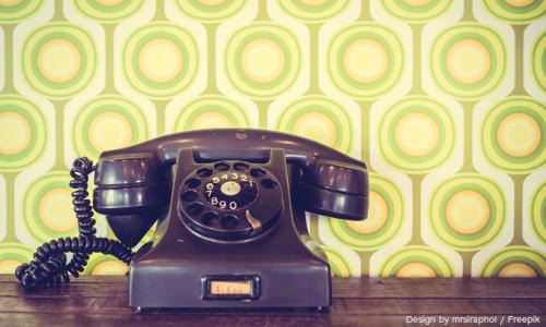 Old vintage telephone - Vintage Filter
